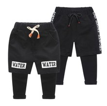 Children's Casual <strong>Pants</strong> Baby <strong>Boy</strong> Fake Two Sports <strong>Pants</strong> Korean Version Of Elastic <strong>Pants</strong>