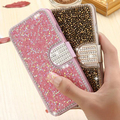 Full Diamond flip leather phone case for iPhone7, PU card slot leather back cover for iPhone 7 plus