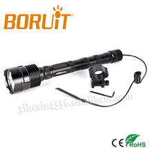 5000 Lumens 3T6 CREE LED Rechareable Flashlight/Torch High Power LED Torch With Press Switch&Gun Mount