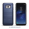 DFIFAN Dual Protective Brushed Metal Texture for Samsung S8 Case ,Wire drawing Mobile Cover Case for Samsung Galaxy S8