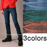 jsa0102 color denim sapndex wash skinny jeans red blue green
