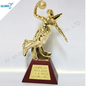 Metal Motion Basketball Trophy For Honor