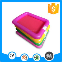 Rainbow color inflatable plastic sand pit accept samll order