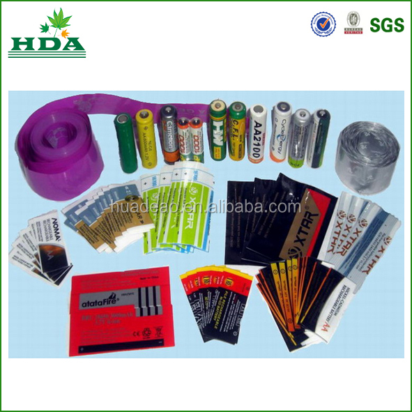2015 hot sale!!! bottle labels/ exellent printing battery shrink sleeve