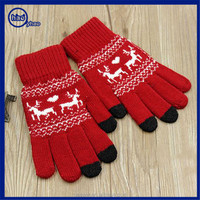 Yhao amazon supplier acrylic wholeasle cheap custom touch screen gloves texting for phone/pad