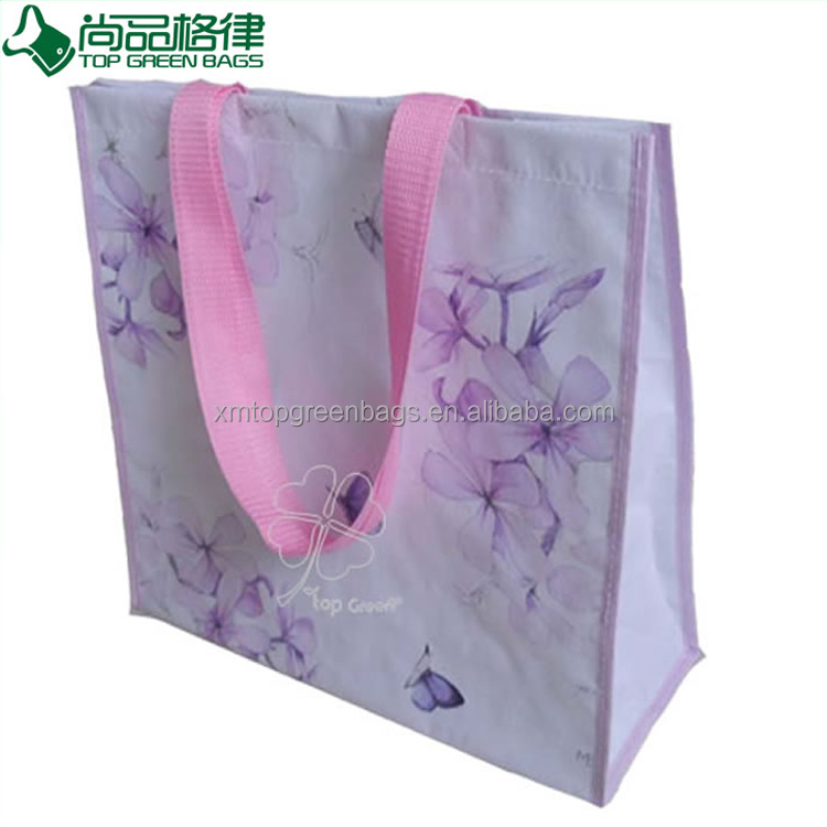 Customized fashion printed fancy Laminated PP woven shopping Bags
