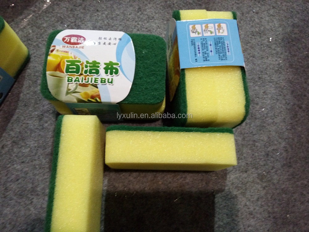Factory Price colorful kitchen sponge scouring pad usd in the kitchen