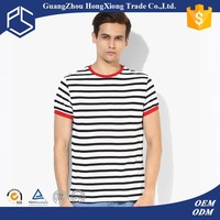 Promotional slim fit mens stripe cheap t shirt
