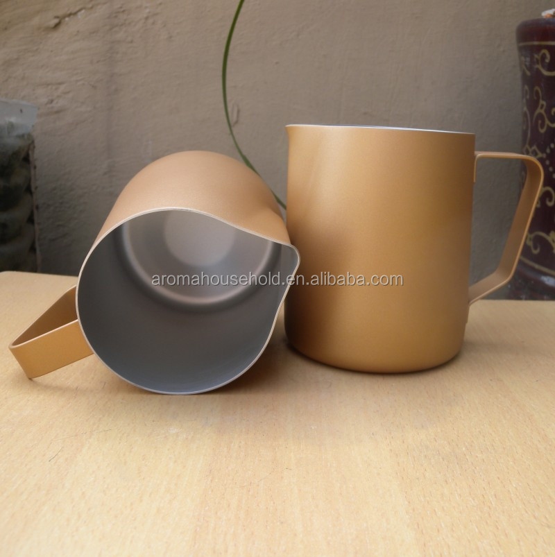Stainless Steel Milk Frothing Pitcher Rose Gold 20 oz