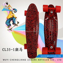 Wholesale 100% new PU Wheel 22*6inch Mini Board land surfer skateboard