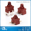 UL approved 16a latching push button foot switch for vacuum cleaner