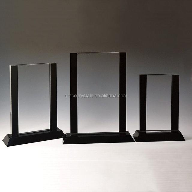 Black border design crystal award plaques