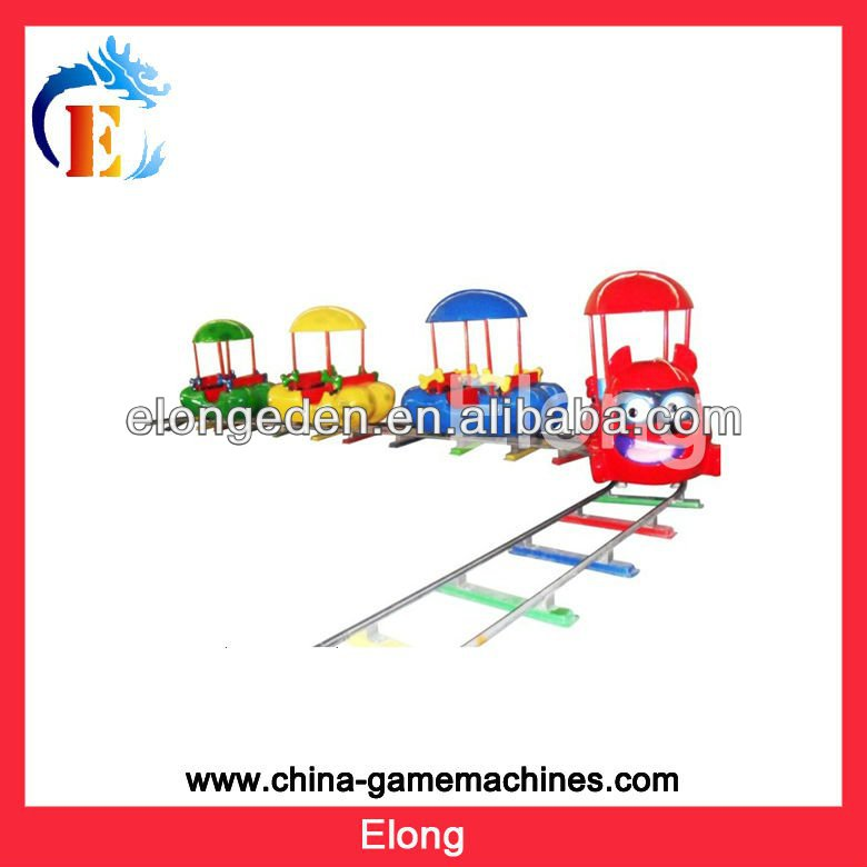 Naughty amusement park ride carton electric track train on iron track