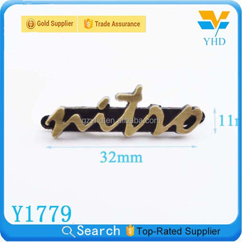 Fashion profession accessorice wholesale vintage metal letters for clothes