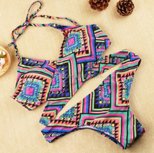 Hot Sexy Printed Pattern Brazilian Bikini Cross Bikini For Girls