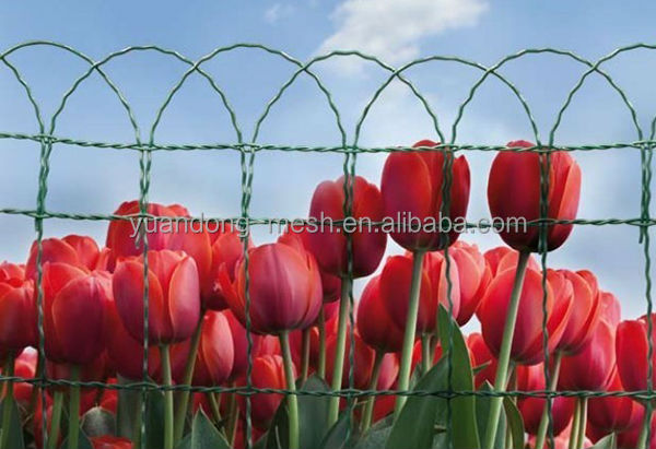 Green PVC Coated Garden Border Fence Roll