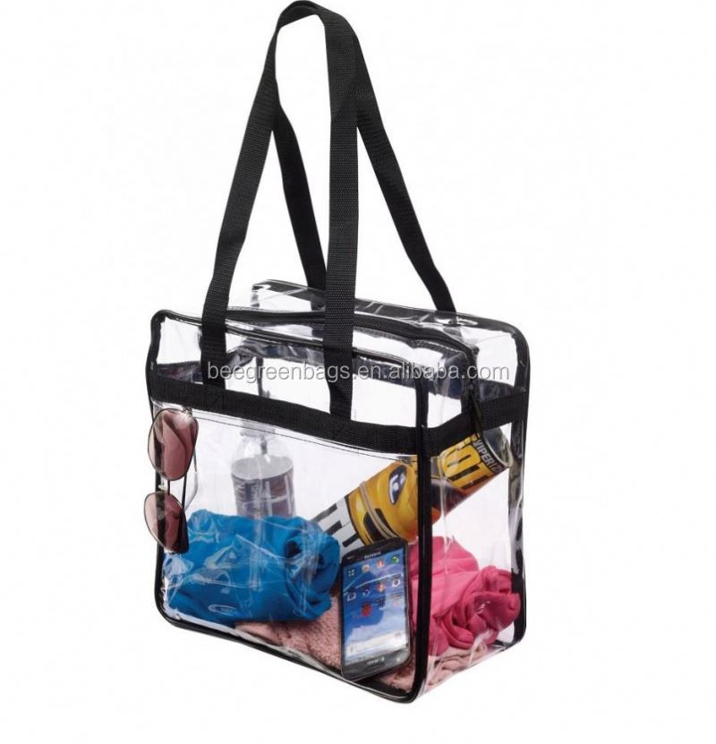 BeeGreen NFL Stadium clear tote bags with costom color