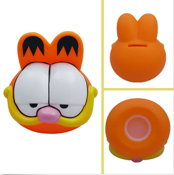 2017 ICTI Factory custom GARFIELD Coin PVC Piggy Money Bank