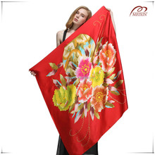 Novel design digital printed high quality 100% silk 14mm silk twill fabric