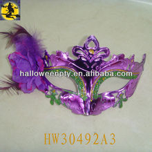 Purple Sex Plastic Holiday Mask with Flower