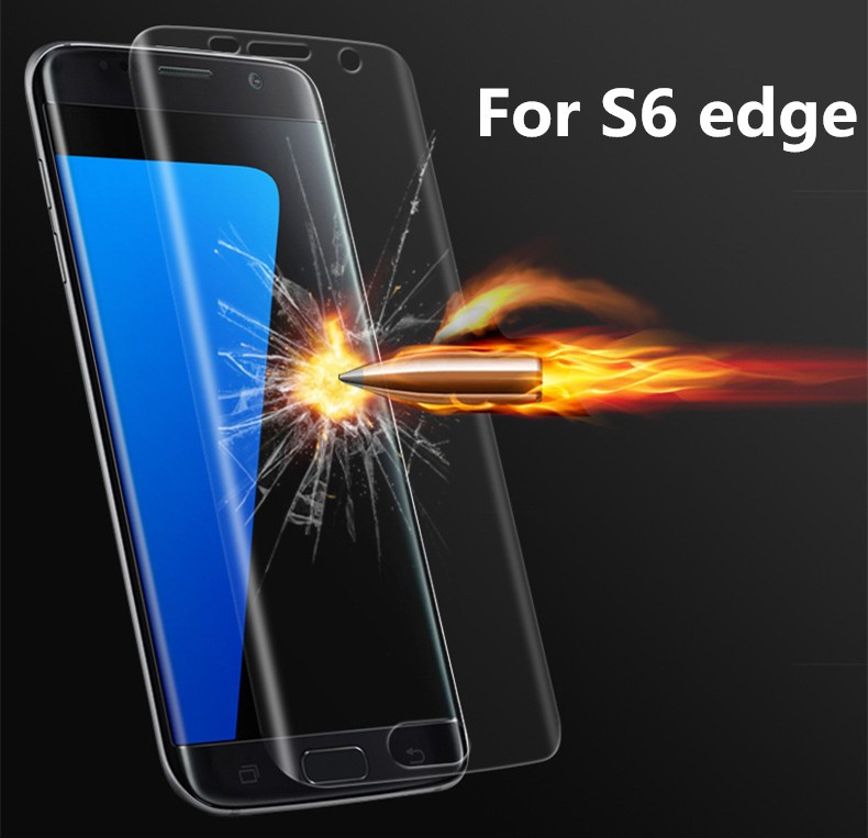 Soft TPU Screen Cover for Samsung S6 edge 3D Screen Full Cover Screen Protector For Samsung Galaxy S6 edge