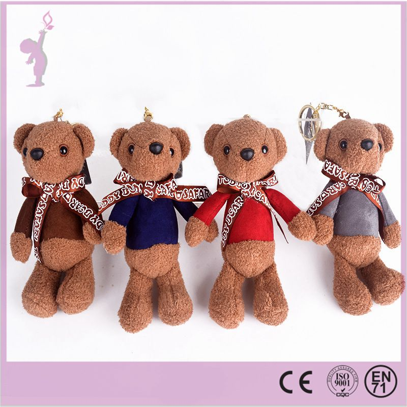 High quality Alibaba cheap custom/wholesale plush keychain plush teddy bear keychain