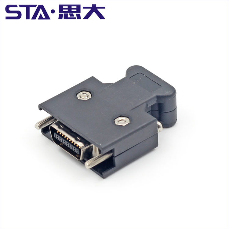 20Pin <strong>0</strong>.050inch 1.27mm MDR Wire mount Male Plug SCSI Connector SCSI 20pin MDR female to female MDR cable assembly SCSI cable 20