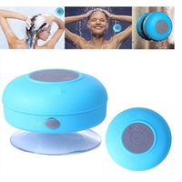 Mini Sucktion cup Shower Wireless Bluetooth Water proof Speaker With Hands Free Function