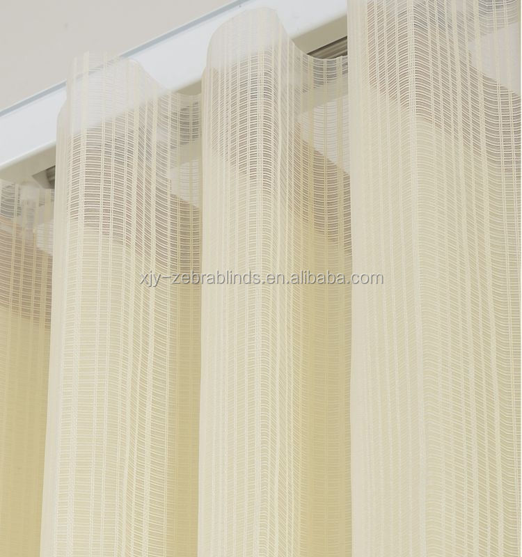 Transparent sheer vertical blind fabric