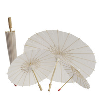Wholesale Wedding Umbrellas Parasols Chinese Oil Paper Umbrella Children DIY Customized White Color Umbrella
