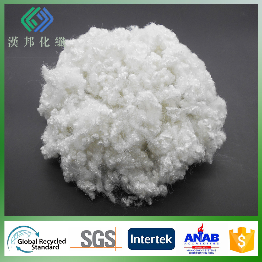 15D non silicon regeneration hollow conjugated polyester staple fiber for Non-glue cotton