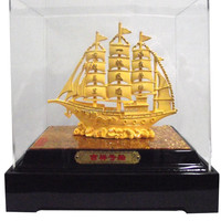 brass craft ship statues for home decoration