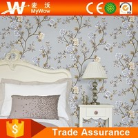 Flower Tree Natural Design Wall Paper Deep Embossed Modern Style Fireproof Wallpaper