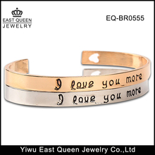 316L Stainless Steel I Love You More Bracelet Wholesale