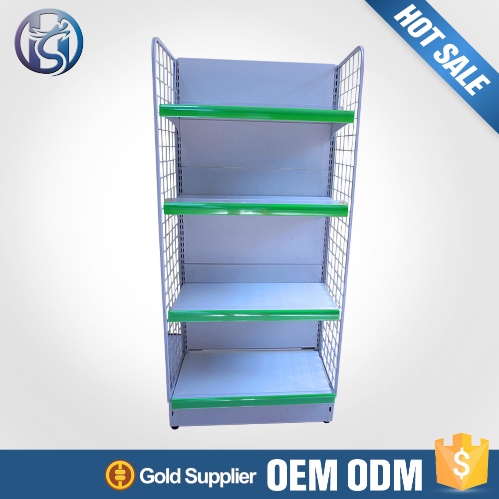 Alibaba China pop up metal grocery store shelving HS-ZS07