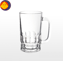 Foshan glass manufacture bar wine beer glass with handle mug cup