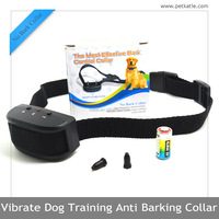 Wholesale Private Label Black Low Cost Vibrate Dog Bark Collars