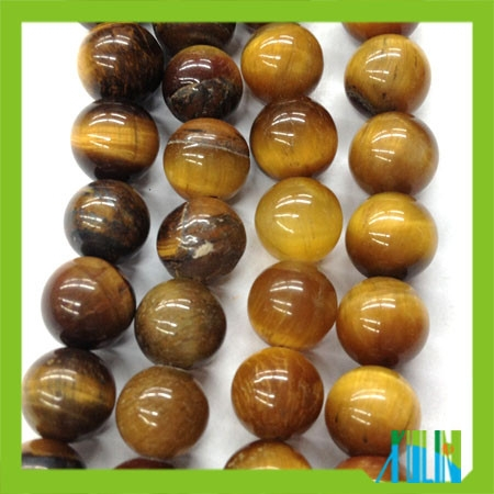 European design semi precious natural tiger eye round beads
