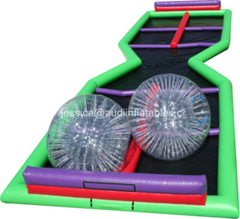 high quality inflatable Zorb Ball Set with Track interactive sport game