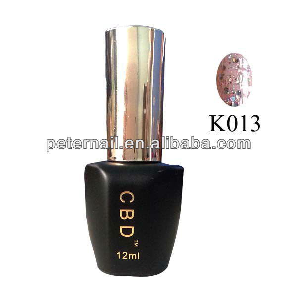 2013 Soak off Glitter Gel Self Leveling Nail Gel