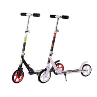 2017 hot sell 200mm big wheels folding adult kick scooter