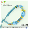 newest design hot selling lucky dice blue friendship colorful wooden beads charm bracelet wholesale