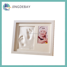 Baby Handprint Kit Baby Shower Gifts Registry Premium Clay Baby Footprint & Handprint Picture Frame Kit