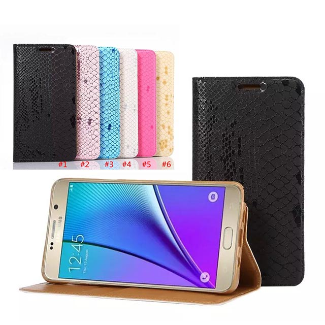 For Samsung Galaxy Note 5 Flip Leahter Wallet Crocodile Stand Cover Case