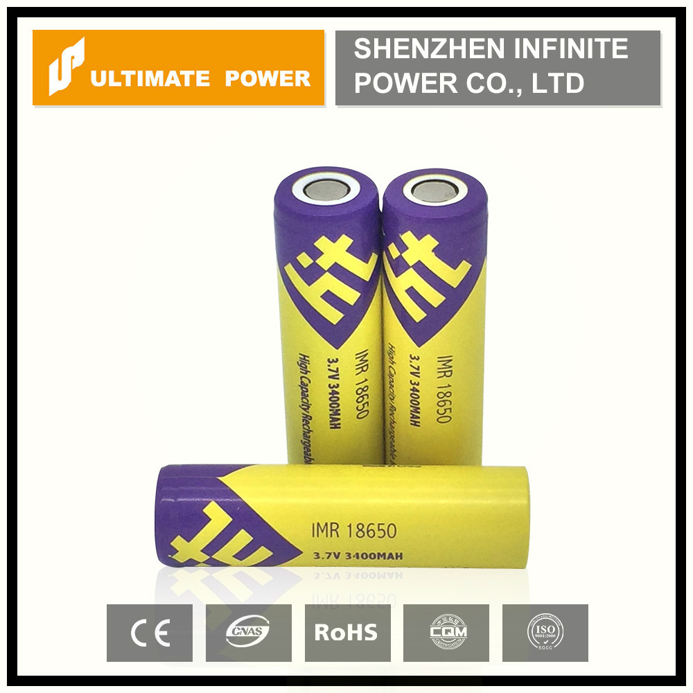 High drain 18650 battery ht 3400mah rechargeble Lithium ion for factory price vs panasonic 18650 battery