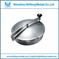 Stainless Steel Manhole Cover/sanitary grade manhole cover/stainless steel tank manway