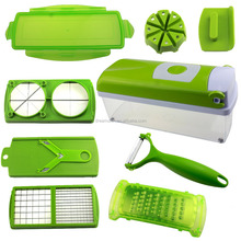 12 Pcs TV Nicer Vegetable Dicer Plus Fruit Multi Peeler Cutter Chopper Slicer Kitchen Tools For Salad