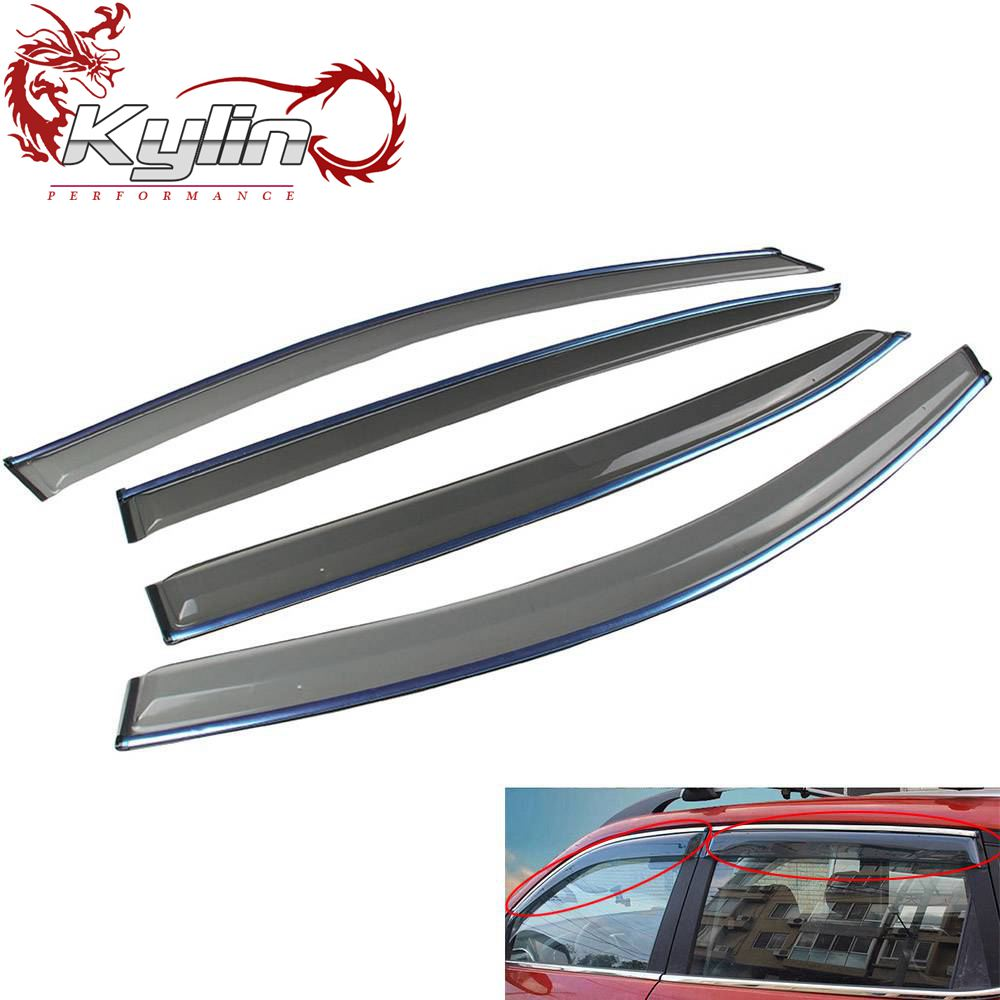 Ryanstar Racing 4pcs Deflector Sun Rain Guard Window Vent Visor for Hond*