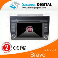 Dual din 7 inch touch screen Car audio GPS For Fiat Bravo Car dvd GPS navigation with BT