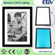 sample available promotional board single sided acrylic LED picture frames for advertising